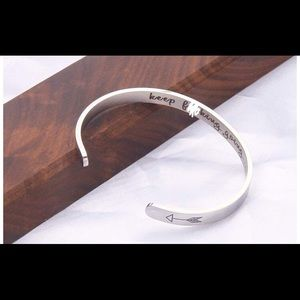 """Jewelry - """"Keep F**king Going"""" stainless steel cuff"""